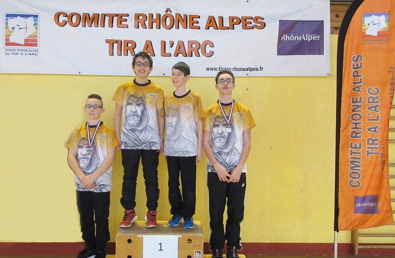Champions Départementaux et Champions de Ligue, Vainqueurs de la Coupe Rhône Alpes Jeunes